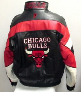 Vintage Chicago Bulls Pro Player Leather Jacket