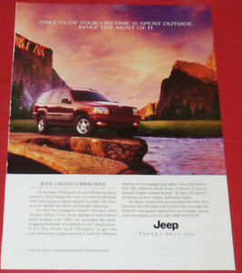 2000 JEEP GRAND CHEROKEE 4 X 4 IN RED AD - RETRO ANONCE