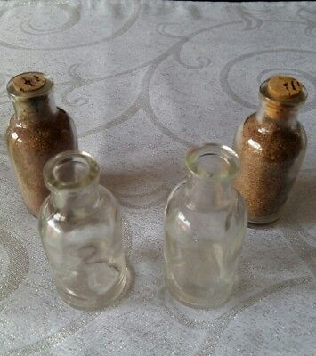SMALL MINITURE CLEAR BOTTLES x 4