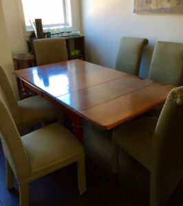 Dining set, 6 chairs and table
