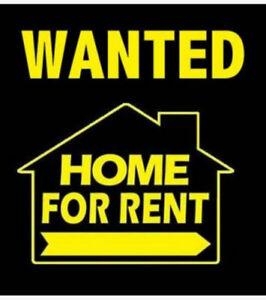 Wanted: Rental. Single Responsible Tenant- √Track Record,*Credit