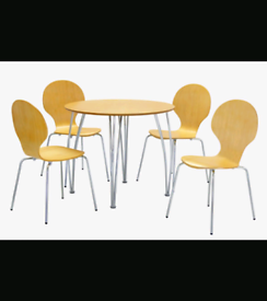 Brand New Dining Table with 4 Chairs Beech