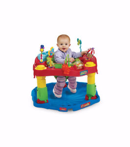 $45 obo- Fold-n-go Exersaucer-Heights,Washable,Unisex,etc