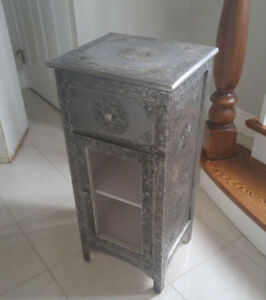 Beautiful Silver Cabinet and Hutch for Sale