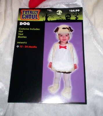 NEW Totally Ghoul * Halloween Costume PUPPY DOG * 12 to 24 Months Boys Girls NWT - Girl Puppy Halloween Costume