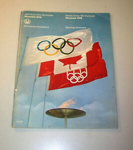 GAMES OF THE XXI OLYMPIAD MONTREAL 1976 OPENING CEREMONY PROGRAM West Island Greater Montréal image 1