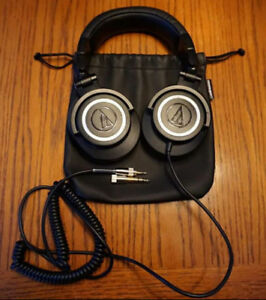 Audio Technica ATH-M50 Coiled Cable Studio Monitoring Headphones