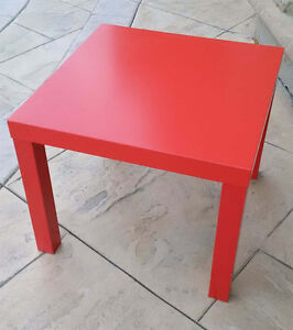 LACK Side table, red