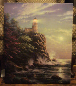 Thomas Kinkade Paintings: Gallery Wrapped Art Great Condition