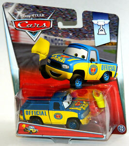 Disney Pixar Cars 1/55 Dexter Hoover With Yellow Flag Diecast