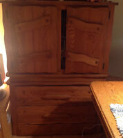 Moving Sale: Artisan All-Wood Rustic Cabinet($48 or BEST OFFER