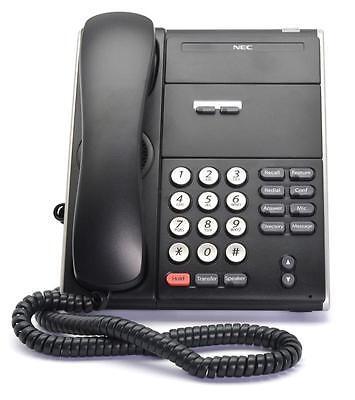 Fully Refurbished Nec Dt310 Dtl-2e-1 2-button Non Display Digital Phone Black