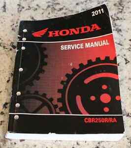 2011 Honda CBR250R or RA service manual - excellent condition