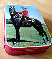 Vintage Royal Canadian Mounted Police Tin Toffee Box - RCMP