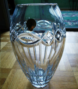 Waterford Antique Atlantic Crystal Lead Vase (Made In Ireland)