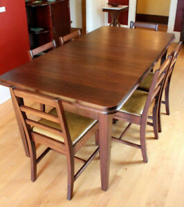 Mahogany Table and Chairs, c.1940's
