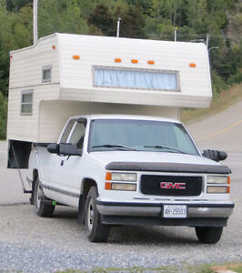 Truck Camper with Trailer