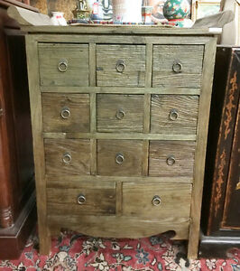 11 drawers hand carved cabinet made with real wood