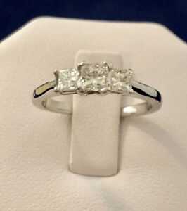 14k gold princess cut diamond engagement ring*Appraised @ $3,800