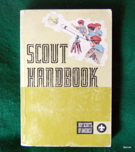 VINTAGE BOY SCOUT - 1972 BOY SCOUT HANDBOOK - 8th EDITION - 1st PRINTING