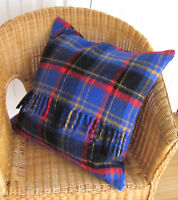 New Handmade Pillow Cover from Vintage Wool Plaid Blanket