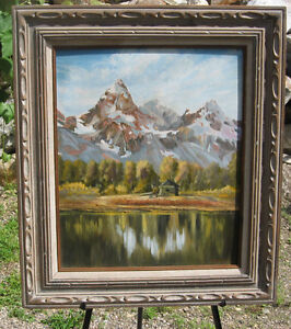 >  Mountain Scene OIL PAINTING BY CUMMINGS