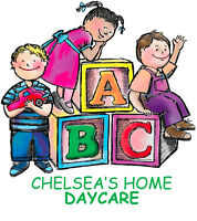 Chelsea's Home Daycare - immediate F/T & P/T openings available