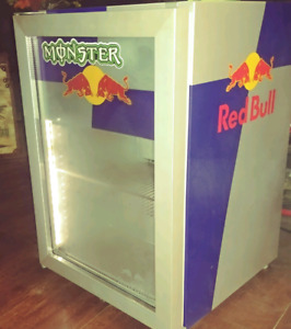 Commercial red bull display refrigerator