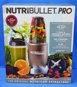 Brand New Never Opened Nutri Bullet 9 piece set