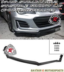 ST-Style Front Lip (Urethane) Fits 17-19 Subaru BRZ