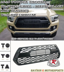 TP-Style Front Grille - ABS Plastic Fits 16-17 Toyota Tacoma