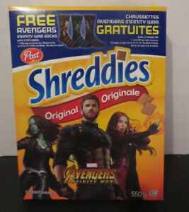 WANTED Post Avengers cereal boxes SHREDDIES