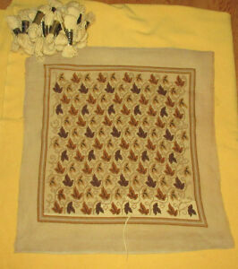Needlepoint Canvas & Tapestry Wool - Golden Leaves