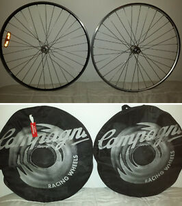 nice ! 2 rims campagnolo ambrosio excellence -9 speed front-back