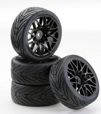 Carson 500900538 SC-Räder LM Style schwarz, 4 Stück Glattbahn 1/10