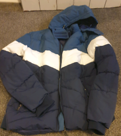 Mens puffa jacket with hood