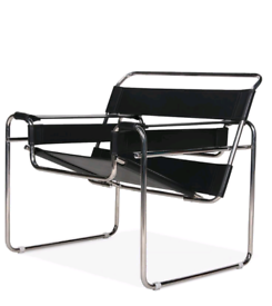Black & chrome Marcel Breuer style ' WASSILY' Chair