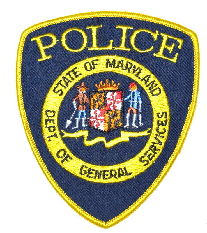MARYLAND – DEPT OF GENERAL SERVICES – MD Sheriff Police Patch STATE SEAL ~