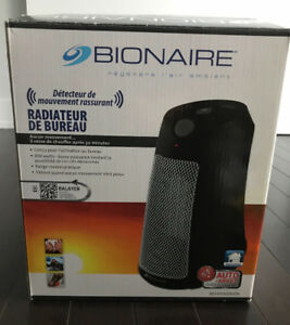 Bionaire office heater with worry free motion sensor
