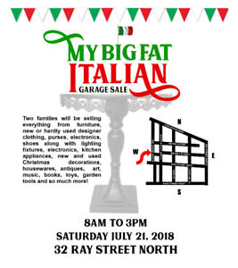 My Big Fat Italian Garage Sale!