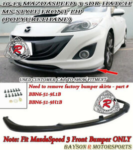 2010 - 13 MazdaSpeed 3 MS Style Front Lip - Hatch 5D