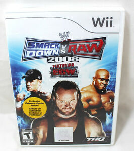 Wii Smack Down VS Raw 2008 No Poster