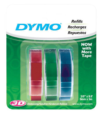 Dymo 9.8 In. L X 38 In. W Blue Green  Red Label Maker Tape