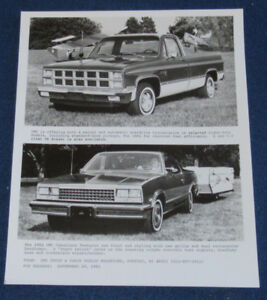 1982 GMC SIERRA & CABALLERO PICKUP ORIGINAL GM PROMO PHOTO RETRO