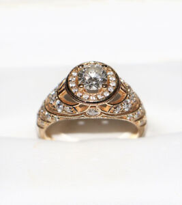 Spence Diamonds Engagement Ring Style # 7538, 0.61 ct, 14kt gold