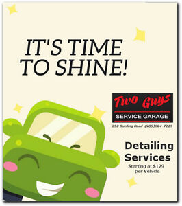 Two Guys Service Garage - Detailing Services