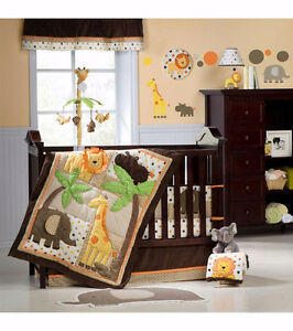 Carter's Sunny Safari Baby Room/Bedding Decor Set