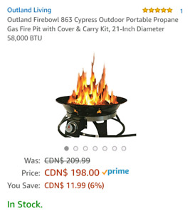 Outdoor Firepit with carrying bag (new)