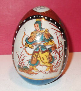 Chinese Asia Japan Oriental Porcelain Egg Hand Painted