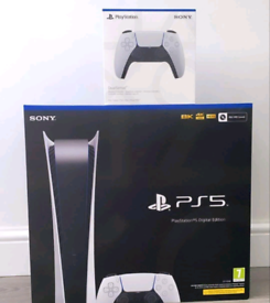 Brand new PS5 PlayStation 5 digital edition with additional controller